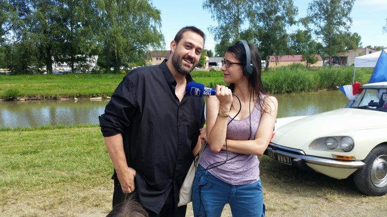 Photos de mon Interview sur France Bleu Alsace a propos de Sarkozy