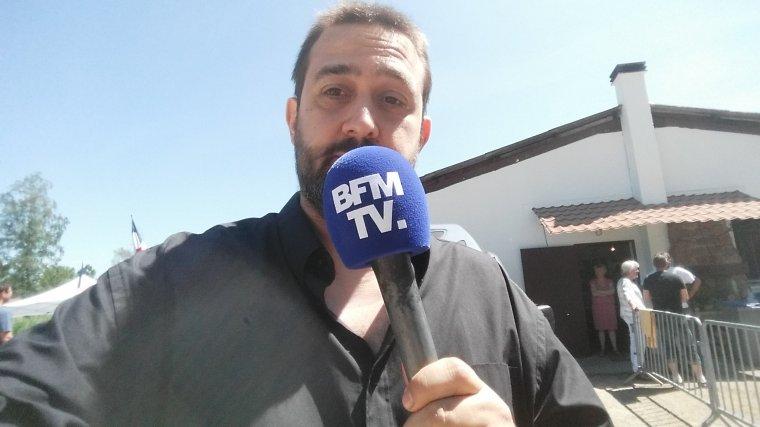 Petite Interview sur BFM TV vite fait pour Sarkozy