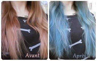 Les craies de couleur pour cheveux