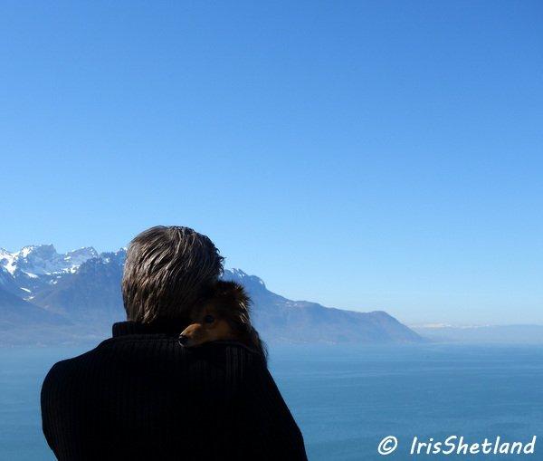 Iris, le lac Léman et mon papa