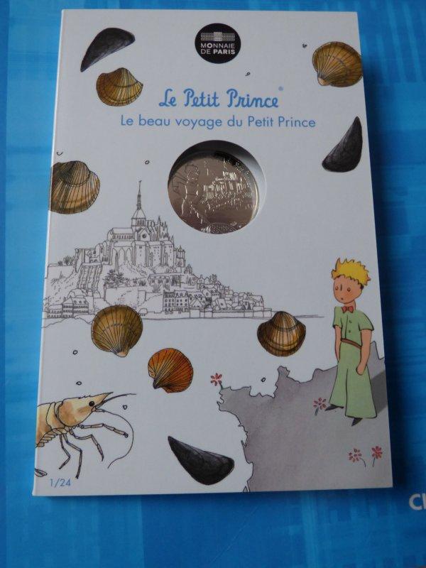 """Ma colection""""Le petit prince"""" : n°1 Le petit prince à la pêche au mont St michel"""