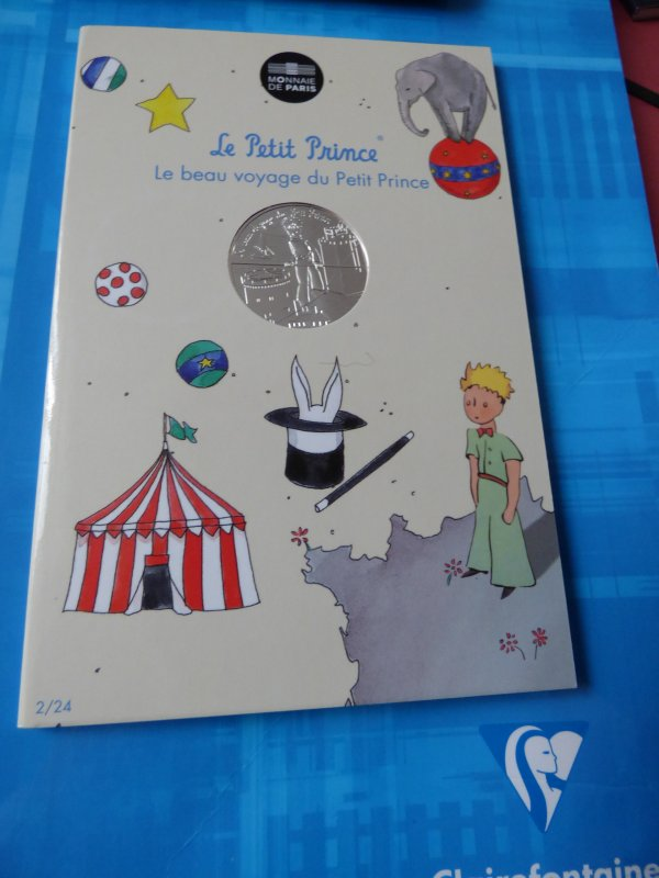 """Ma colection""""Le petit prince"""" : n°2 Le petit prince funambule au cirque"""