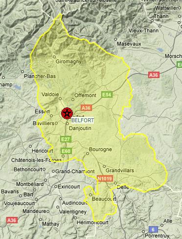 Liste sur le territoire de Belfort