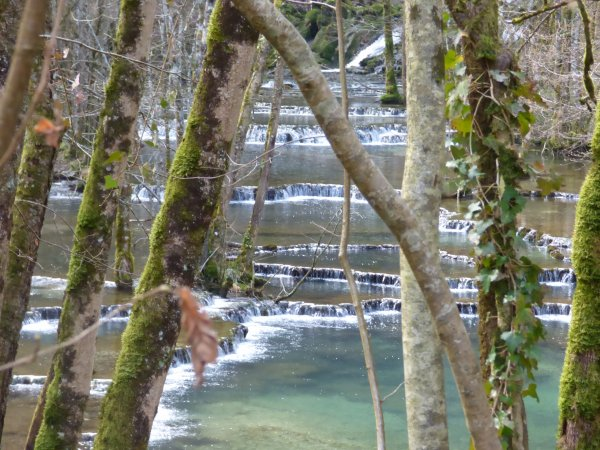 Cascade des tufs , les Planches près Arbois, mars 2018