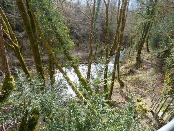 Cascade de la Volferine et cascade de la Pierre perçée, avril 2018