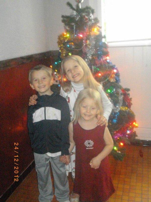 mes chéries le jour de Noël