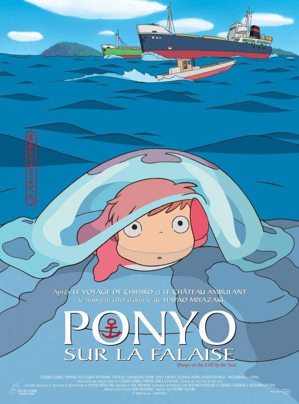 Ponyo sur une falaise