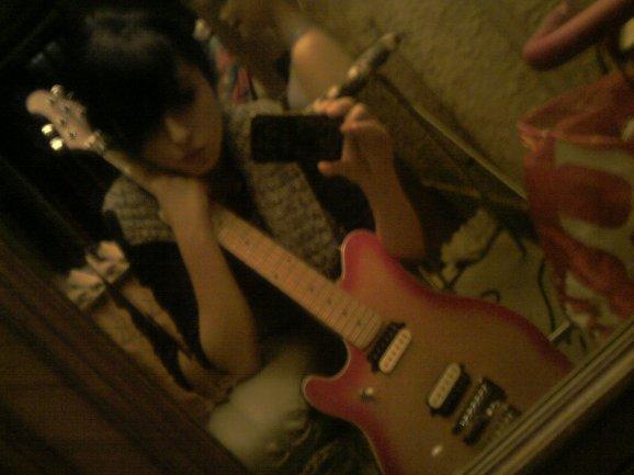 me & my guitar  ♥