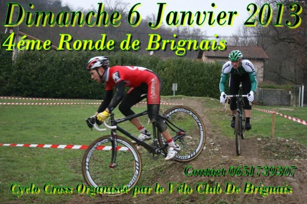 Cyclo cross le 06/01/2013 a Brignais