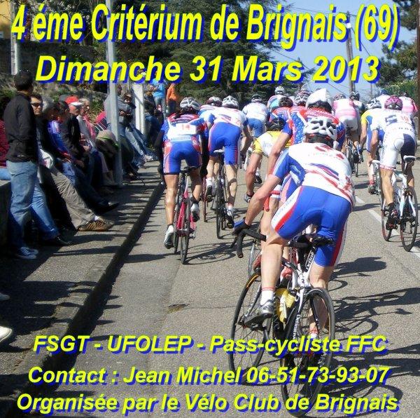 Critérium de brignais le 31/03/2013