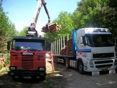 Chargement de bois