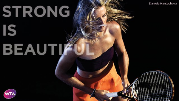 ". Daniela dans la campagne WTA ""Strong is beautiful"" ! <3"