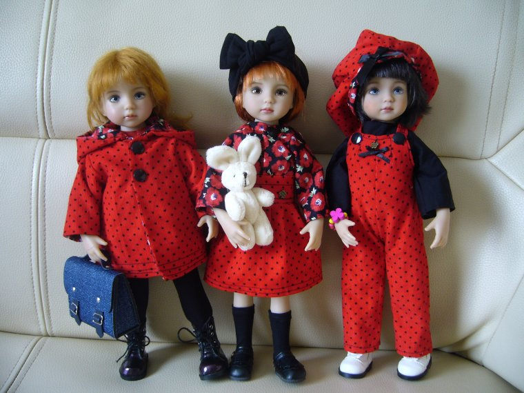 Little darlings en rouge et noir...