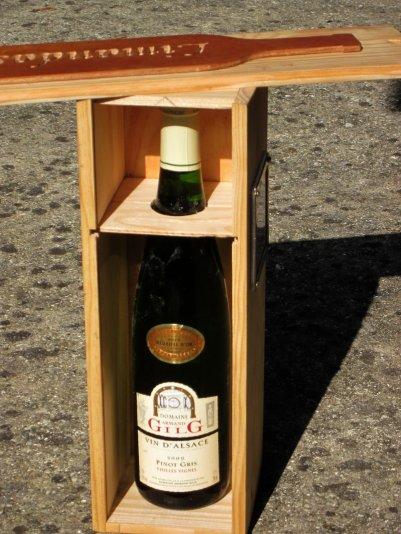 Personnalisé un coffret à vin