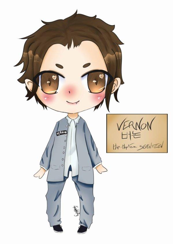 SEVENTEEN Vernon Chibi [+SPEED PAINT]