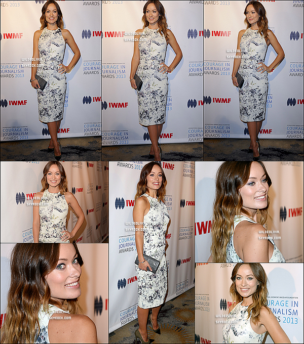 28/10/13 :  Olivia Wilde était au « International Women's Media Foundation's Courage  In Journalism Awards ».