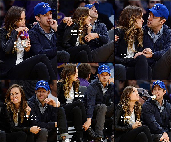 01/11/13 :  Les  futurs parents assistaient au match   des Lakers  contre les San Antonio Spurs à Los Angeles.