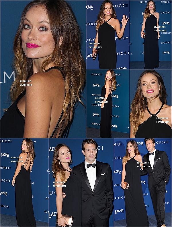 02/11/13 :  Habillés  en Gucci, Olivia Wilde et Jason étaient au « LACMA 2013 Art + Film Gala » à Los Angeles.
