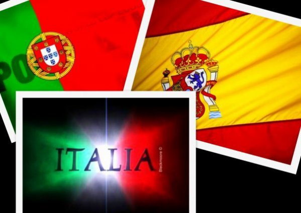 PORTUGAL vs  ITALIE vs ESPAGNE