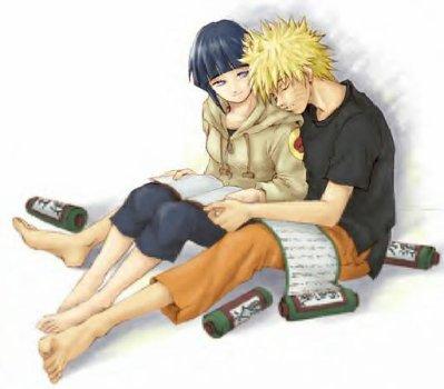 Naruto qui s'est endormi sur l'épaule d'Hinata lol