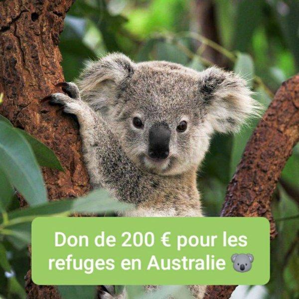 DON DE 200¤ POUR L AUSTRALIE