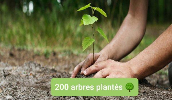 200 ARBRES PLANTÉS