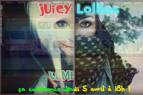 Juicy Lollies. « Couverture. »