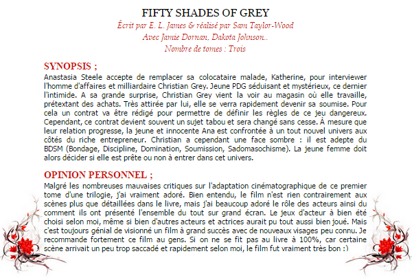 Fifty shades of sexe.. ♥ ;