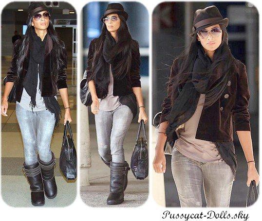 Nicole à l'Aeroport JFK (31.10.10)