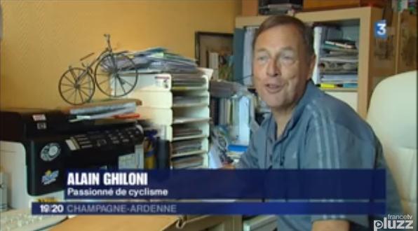 Alain Ghiloni, Président de l'UCVF à l'Honneur sur France3 Champagne-Ardenne.