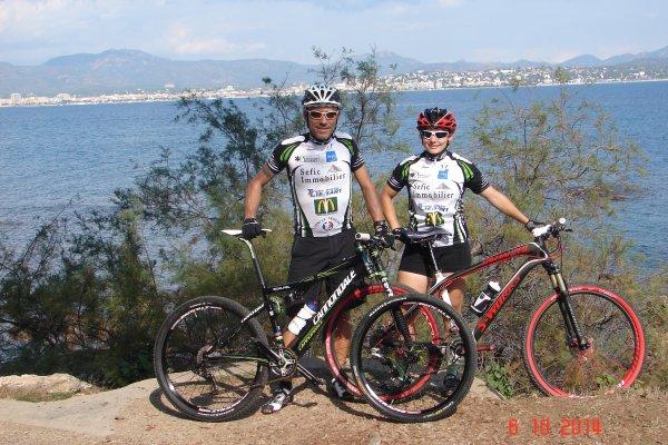 Alicia et Vincent  au Roc d'Azur 2014