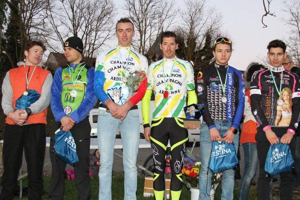 Dimanche 4 décembre 2016 Championnat de Champagne-Ardenne Cyclo Cross à Colombey les deux églises
