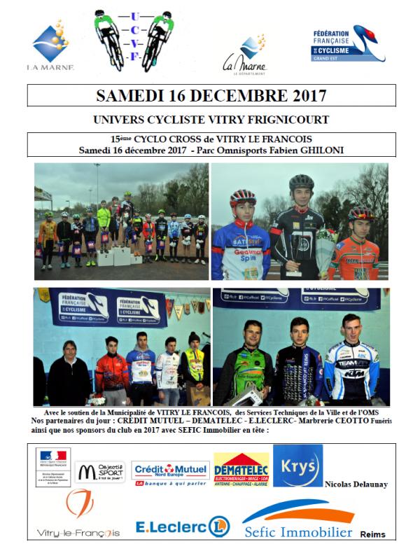 Samedi 16 Décembre 2017 --- Cyclo Cross de Vitry le François