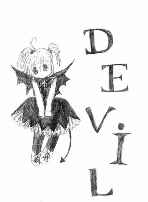 Demon manga les dessins de juliette le dessin ma - Dessin de demon ...
