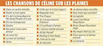 Sur les Plaine au Quebec,Le 27 juillet, Céline Dion renouera avec ses plus grands succès francophones