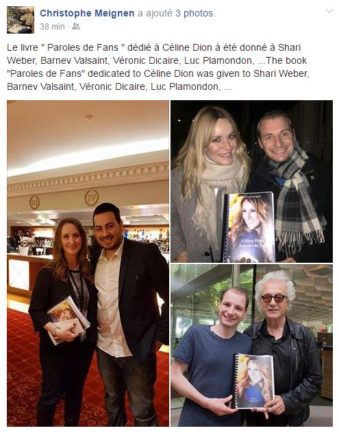 """Voici la couverture du livre """"Parole de fan"""" sur Céline Dion !! Attention il va bientôt sortir (en juin normalement).... J'ai hâte !"""