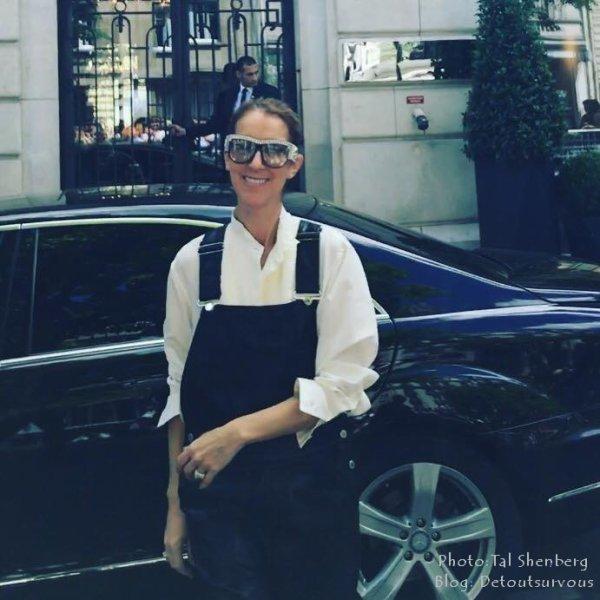Céline vient de sortir de son hôtel à Paris pour aller au concert de ce soir à Leeds... quelques captures de la vidéo en direct des Red heads :)
