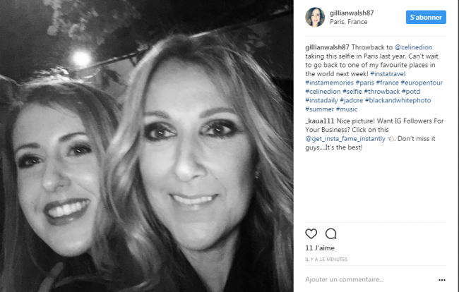 Hier soir le 25/05/17 des fans chanceux ont fait quelques selfis avec Céline ;) avant qu elle aille se coucher !