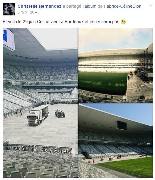 29 Juin 2017 Céline sera à Bordeaux, la scène se prépare ...