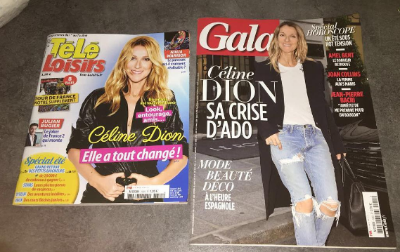 Céline a la une du magasine télé loisir et Gala