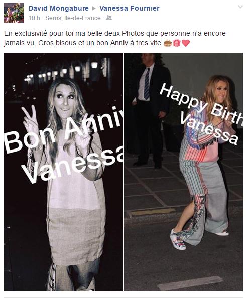 Je tenais a souhaiter un joyeux anniversaire à Vanessa une grande Fan de Céline qui partage sa passion avec nous et du coup nous fait rêver  💝