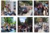 Céline a la sortie de son hôtel, elle part à Bercy Le 08/07/17