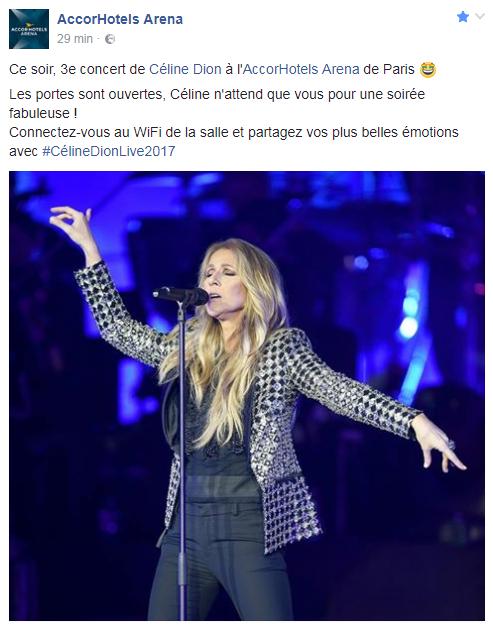 3ieme concert pour Céline ce soir à Paris 🎼👏