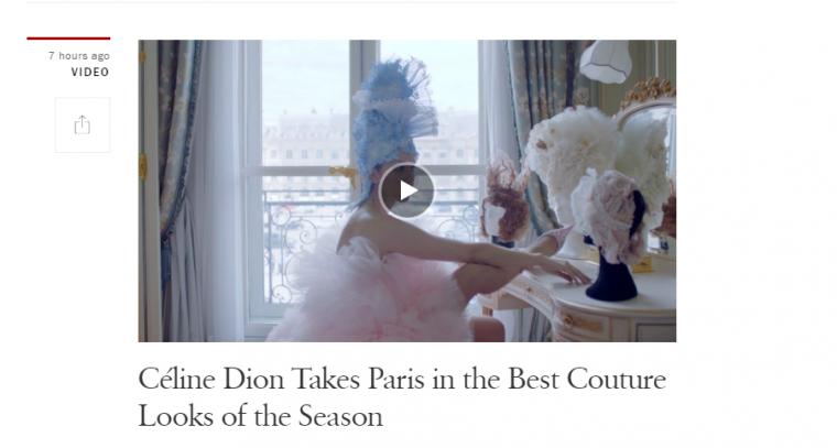 Apres la Scène  ...Céline pose pour Vogue ...Une vidéo dévoilée !