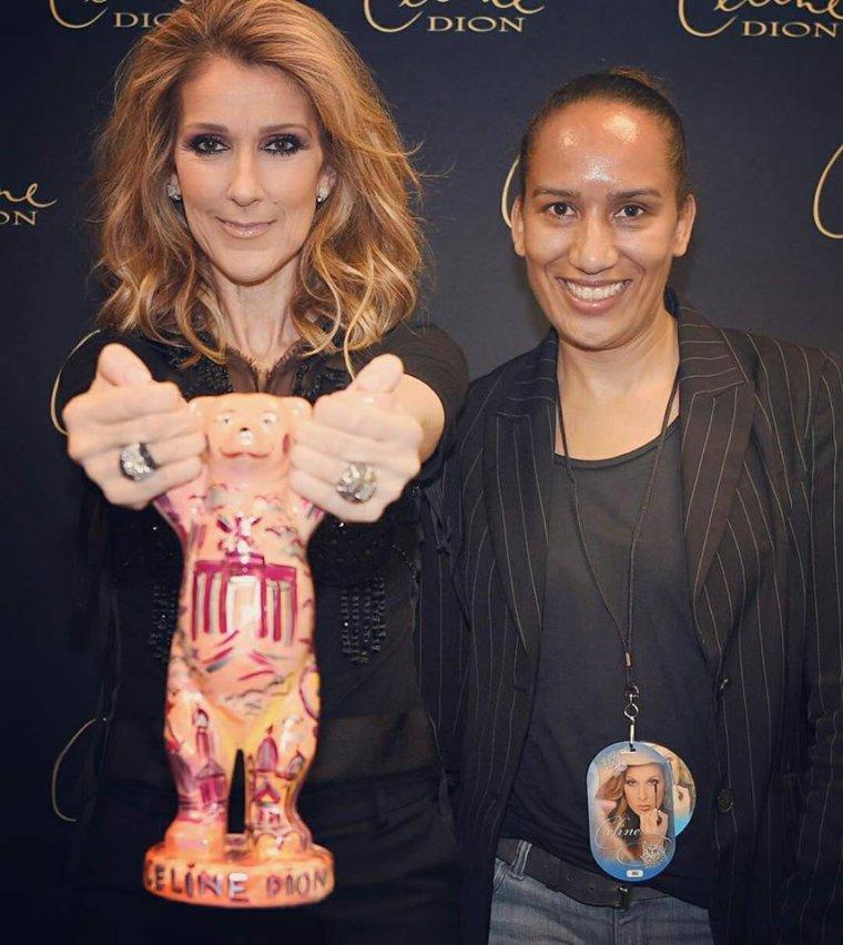 Celine dion & Conchita wurst en Backsage et d'autres chanceux :)