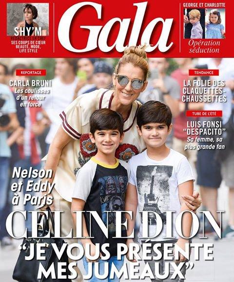 Céline est sur la couverture du Magazine Gala