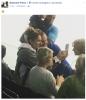 Ce soir, le 13/08/17 Céline est au Quebec et nous la retrouvons a un match de hockey à Terrebonne