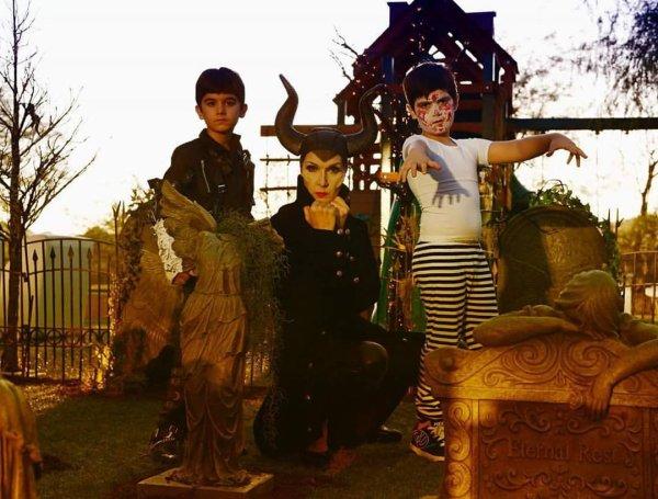 #happyhalloween ... Et oui même Céline a fêter Halloween avec ses jumeaux ;)