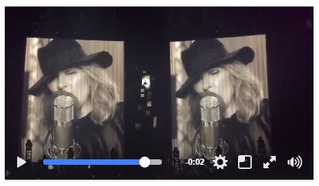 Céline est apparue lors du concert donné hier soir au Centre Bell à Montréal en hommage à feu Leonard Cohen 😲🤠🎙️