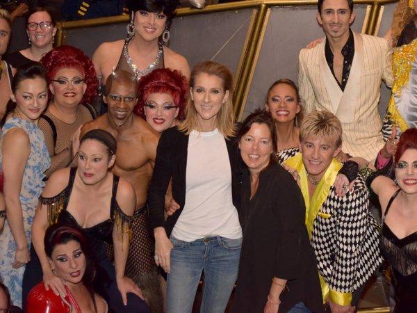 """J'ai finalement eu la chance de voir Zumanity by Cirque du Soleil hier soir. J'ai pu féliciter les artistes en coulisses y compris mon amie et directrice artistique, Sandi Croft, qui a dansé avec moi pendant 5 ans sur le spectacle """"A New Day"""". Une superbe soirée! - Céline xx ..."""